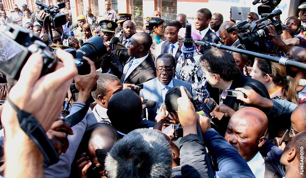 Mugabe has voted, 2013
